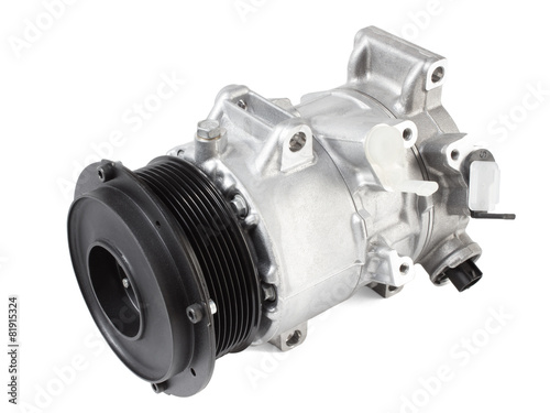 Leinwanddruck Bild automotive air conditioning compressor