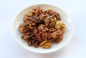 Walnuts on a saucer