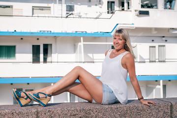 girl in port