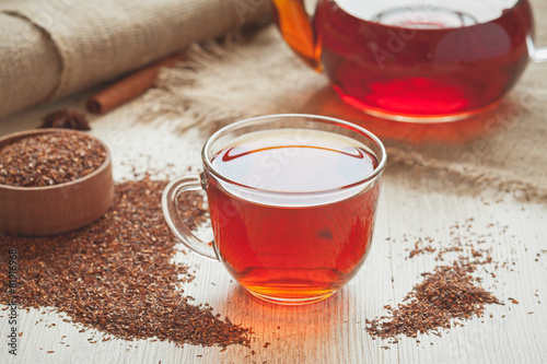 Fotobehang Thee Natural tasty traditional african tea rooibos with antioxidants