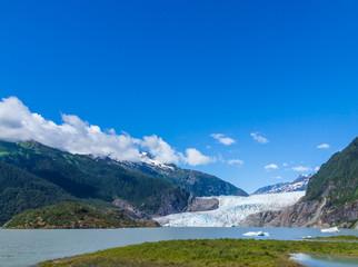 Mendenhall Glacier and Lake in Juneau, Alaska, USA