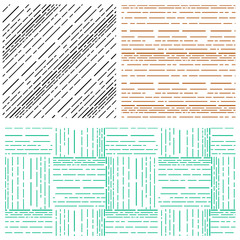 Set of Abstract arrange various line pattern background
