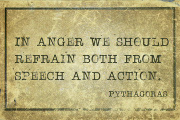 in anger Pyth