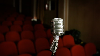 Microphone vintage theater red