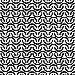 Retro Seamless Pattern Half Circles Turquoise