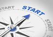 Kompassnadel zeigt auf START - 81918529