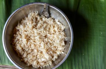 Thai style dessert sweet coconut