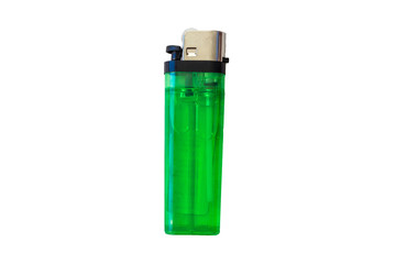 disposable gas lighter on white background
