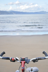 Bicycle in a beach