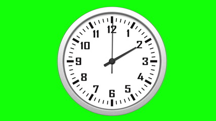 Animated clock counting down 12 hours over 30 seconds
