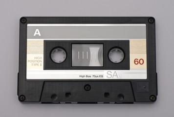 audio cassette black high