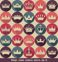 Crown seamless pattern.