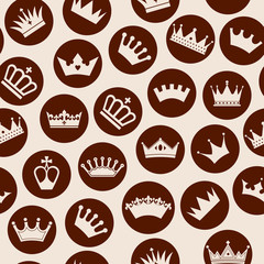 Crowns seamless pattern