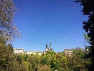 Our lady cathedral in spring, Luxembourg