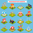 Amusement Park Isometric - 81920793