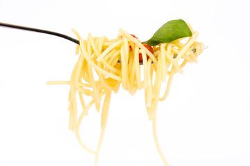 Isolated pasta on white background