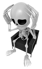 3D Skeleton Mascot That problem is such a headache. 3D Skull Cha