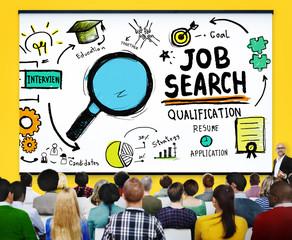 Job Search  Resume Recruitment Hiring Application Concept