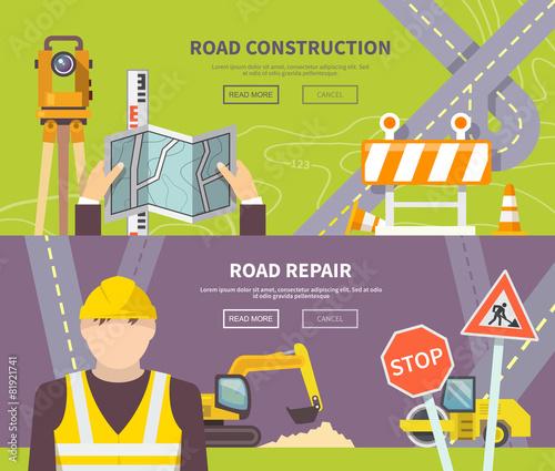 Road Worker Banner - 81921741