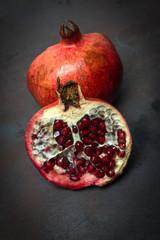 Ripe Pomegranate fruit. Organic Bio fruits