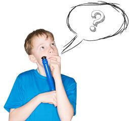 Kind mit einem Stift in der Hand