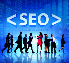 Business People SEO Strategy E-Business Discussion Concept