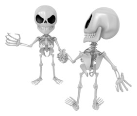 3D Skeleton Mascot is Competitors will shake the false divide ea