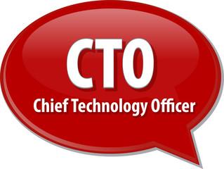 CTO acronym word speech bubble illustration