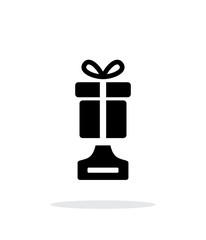 Best gift simple icon on white background.