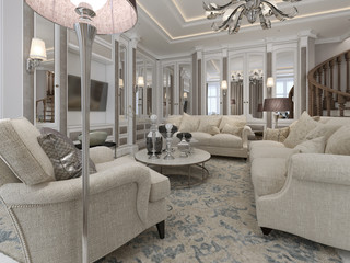 Luxury living room classic style
