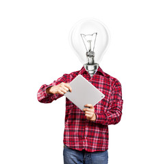 Lamp Head Man With Touch Pad
