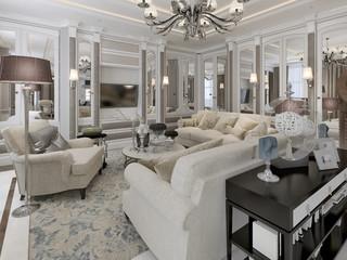Art deco style living room