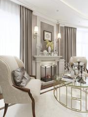 Luxury fireplace area