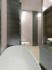 Unusual design of bathroom