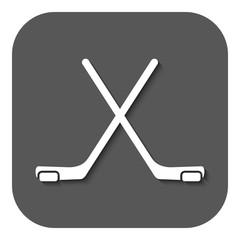 The hockey icon. Game symbol. Flat