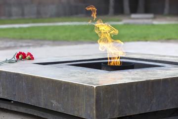 Russia. St. Petersburg. Field of Mars. Eternal flame