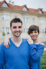 Young lovers excited about your new home