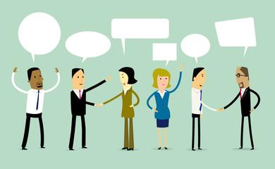 Cartoon Business teamwork concept illustration