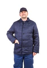 Worker in winter workwear.
