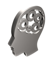 Cogs inside a human head