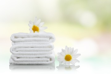 Towel. Towels and Daisies