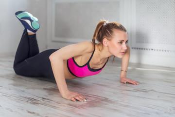 fitness athlete sportive woman sport model girl training