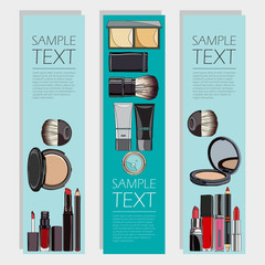 cosmetic set of vertical flyers