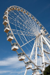 View of Observation Wheel Against the Sky