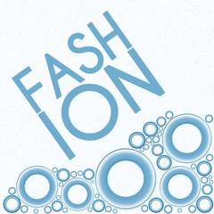 Fashion Text Blue Rings