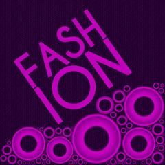 Fashion Text Purple Pink Ring