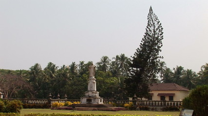 Statue of Jesus Christ near by Cathedral, Old Goa, India