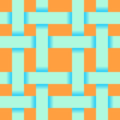 Seamless pattern of intersecting strips