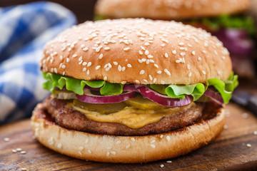 Burger with pork cutlete