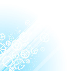 Blue technology business template background.